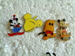 Job lot of 4 Comedy Mickey Mouse Disney character metal lapel pins