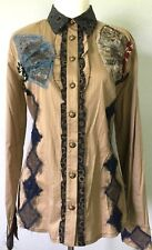 **XL* Save The Queen Cotton Silk Top Tee Shirt Tunic Dress Blouse made in ITALY