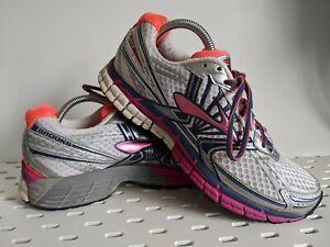 Brooks Women's Adrenaline GTS 14 Running Shoes Sneakers Size 9.5 M White Fuchsia