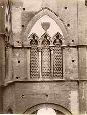 Lombardi. Italie, Siena, palazzo Buonsignori Vintage albumen print Tirage albu