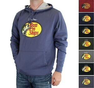 Bass Pro Shops Men's Hoodie Woodcut Johnny Morris Logo Long Sleeve Fleece Lined