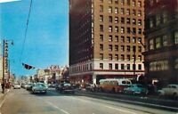 "Hollywood CA~Pantages~City Bus~Famous Corner ""Hollywood and Vine""~1953 Postcard"