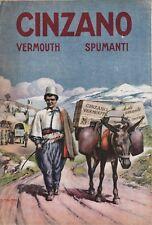 PUBBLICITA' 1918 CINZANO VERMOUTH SPUMANTE COLONIE CASSE MULO RIFORNIMENTI WW1
