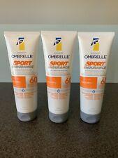 Garnier Ombrelle Sunscreen Sport Endurance SPF 60 Lotion Lot Of 3