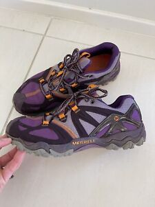 Excellent Condition- MERRELL 'Grassbow' Trail Running hiking Shoes Women 8.5/39