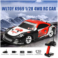 Wltoys K969 1/28 2.4G 4WD 30km/h Brushed RC Car High Speed Drift Racing Car Toy