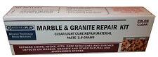 GRANITE & MARBLE REPAIR KIT, PRO SIZE - CLC PASTE 3.0 Grams - LIGHT CURE