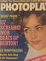 Vintage Collectible Movie Magazine Liz Taylor Cover Photoplay April 1963