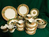 G2- American Atelier Noel Christmas China Service for 8 ++ Serving & Holders