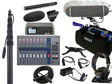 Zoom F4, F-Control, Sennheiser 600, Rode Blimp, K-Tek Boompole, Bag & Headphones