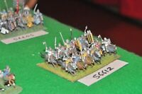 15mm medieval / english - men at arms 12 figs - cav (56612)