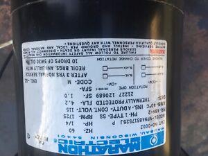 Marathon O002 Oil Burner Furnace Motor 1/4 hp 1725 RPM 48N Frame 115 Volts