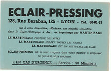 ancien buvard publicitaire Eclair pressing Lyon
