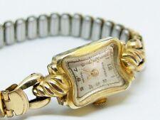 Damen Armbanduhr Siegfried 15 Rubis Walz Gold Double mechanisch läuft nicht