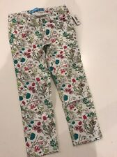 NWT 4 Yr Baby Old Navy White Floral Denim Mini Skinny Jeans Pants 4t Girls