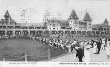 Brighton Beach New York visitors at Brighton Beach Hotel antique pc Z21964
