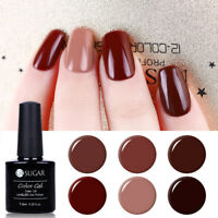 7.5ml UV Gel Nail Polish Caramel Color Series Soak Off Varnish  UR SUGAR