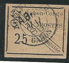 Gabon: Scott 15, min. TH, very good margins used. GA10