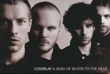 Coldplay A Rush of Blood to the Head RARE promo postcard + collectible card '03