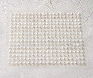 Flat Back Self Adhesive Stick on Pearls in Ivory or White 2mm 3mm 4mm 6mm, 10mm