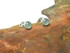 AQUAMARIN Sterling Silber 925 Edelstein Ohrringe / STUDS -  5 mm