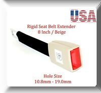 "Beige Universal Seat Belt Extender 8"" Rigid Extension Model: EXT-R With Buckle"