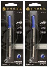 2 - CROSS Slim Ballpoint Pen Refills for Click Pens - Blue Medium
