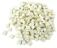 Approx. 340 Pcs. Used White Caps For Standard Schadow Type Switches, 12x6 mm. KM