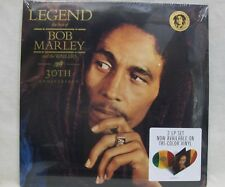 "NEW Bob Marley ""Legend"" 2-LP Tri-Colored Vinyl Record Set 30th Anniversary Impt."