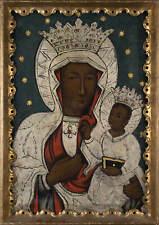 Unbekannter Künstler, Ikone, Schwarze Madonna, Öl auf Leinwand