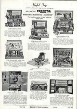1939 PAPER AD All Electric Erector Sets Gilbert Engineers' Set Meccano Brik Toy
