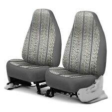 For Ford F-150 85-96 Saddleman Saddle Blanket 1st Row Gray Custom Seat Covers