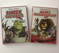 Shrek The Halls & Merry Madagascar DVD Christmas Movie Lot New