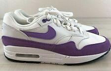 Nike Women's Air Max 1 White Atomic Violet Purple Shoes 319986-118 Size 8
