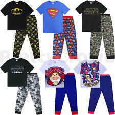Mens Character Pyjamas Pyjama Set Nightwear Lounge Bottoms T Shirt Gift S-XL