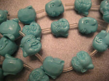 Polymer Blue Happy Buddha Beads 18pcs