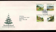 Norfolk Island 1988 1c, 2c, 3c, $5 Definitives FDC First Day Cover #C13987