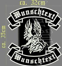 Odin Rückenpatch Aufnäher  oben unten  +  Wunschtext Breite ca,32 x Höhe ca,35cm