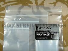 WEB-TEX HEAVY DUTY RESEALABLE POLY BAG SET - 12 x Bags