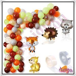 87pcs Woodland Balloon Garland Kit Jungle Arch Garland for Birthday Baby Shower