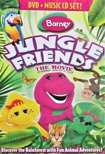Barney: Jungle Friends NEW DVD & CD,The Movie Sing,Laugh,Learn Rainforest,Fun!