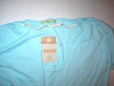 New Womens Alternative Apparel Tee Shirt Top Earth Light Sky Blue M Raw Edge Sof