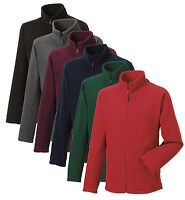 Russell 870M Plain GREY RED GREEN BLUE or BLACK Full Zip Up Warm Fleece Jacket