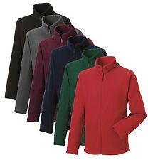 Russell 870M Plain GREY RED GREEN BLUE or BLACK Full Zip Up Warm Fleece Jacket