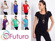 Trendy Women's Mini Dress Crew Neck Short Sleeve Tunic Top Sizes 8-18 5010