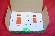 Crabtree cooker switch double with 13amp socket 45amp  with p.L 4520/31