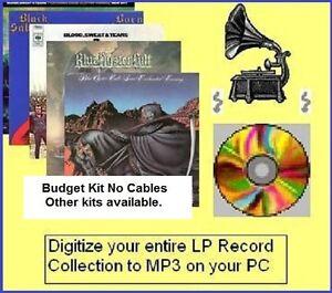 Convert copy VINYL records LP tapes cassettes to MP3 digital audio conversion..