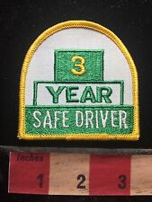 3 YEARS SAFE DRIVER Patch - Truck Driving Safety Yellow & Green & White C75L