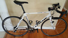 Look 585 White Cyling Bike - Campagnolo 10 speed cassette - Medium Frame