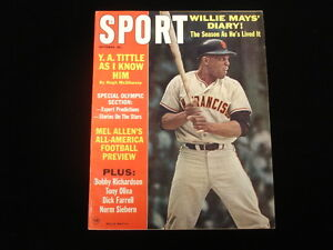 Oct 1964 SPORT Magazine-Willie Mays cover-No Mailing Label-Newsstand Edition-NM